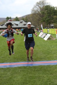 Yes I did jump - photo by Ultra Race Photo