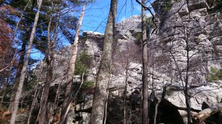 The up coming rock scramble to the Bonticou Summit.