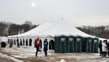 The Start and Finish line tent for drop bag, post race and what not - photo from GLIRC website