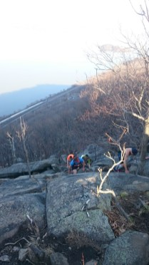 Some of the climb on the Breakneck Ridge