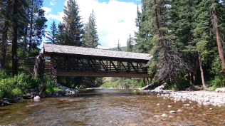 The river creek at the edge of Vail