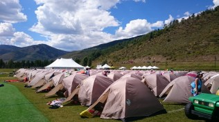 Tent city that looked like refugee camp
