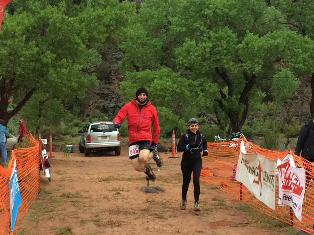 Joe was ready for 2nd loop of 100 miles - photo by Alison
