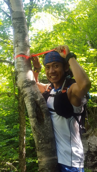 I found and took down the streamer from Manitou Revenge - photo by Chang