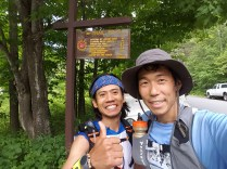 Chang and I at the West End of Devil's Path - photo by Chang