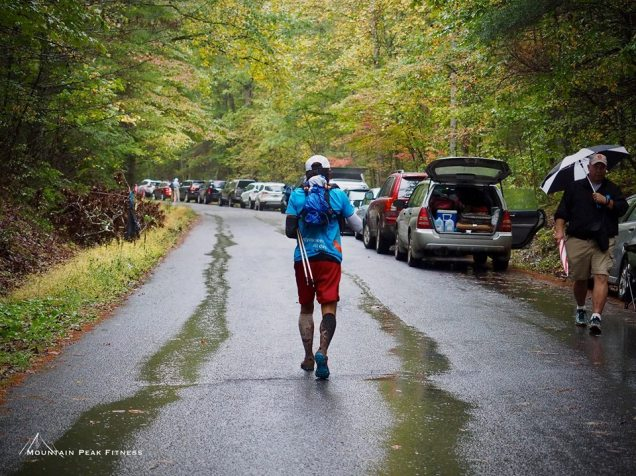 Back to wild, away from the cozy aid station - photo by Joe Azze (Mountain Peak Fitness)