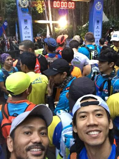 With Ibnu in the starting line - photo by Ibnu Rizal
