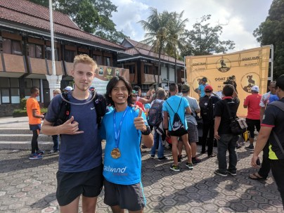 I met Theo, whom I would spend tons of hours with in Rinjani100
