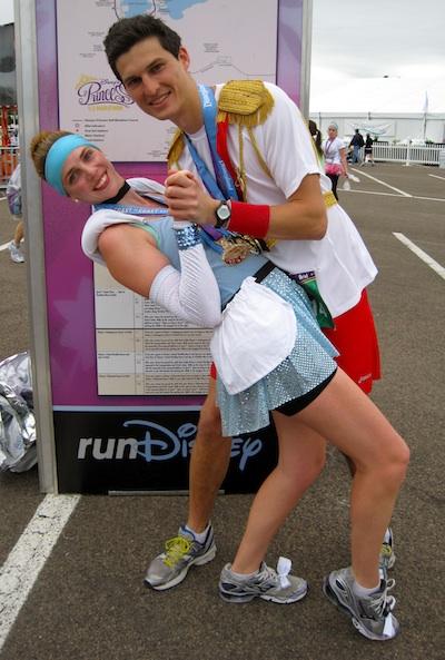 How To Make Cinderella u0026 Prince Charming Disney Running Costumes  sc 1 st  Run Karla Run! & Easy Cinderella u0026 Prince Charming Disney Running Costumes   Run ...