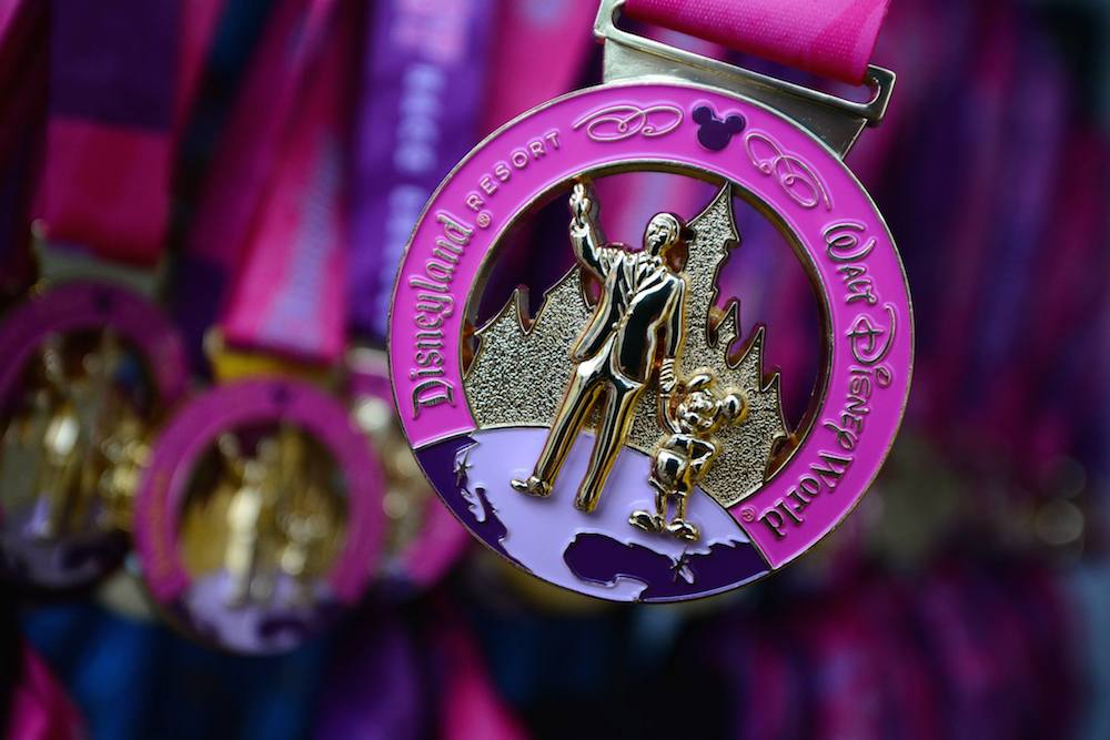 runDisney Pink Coast to Coast Medal, photo: runDisney