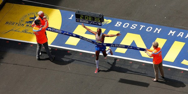 atletas elite en el maraton de boston 2017
