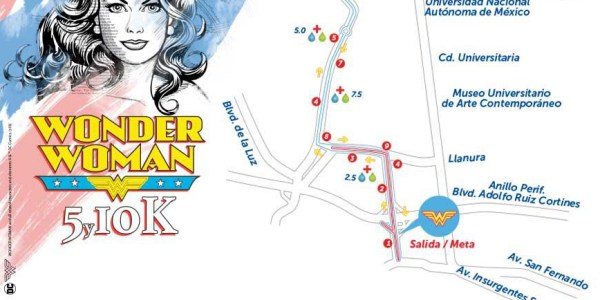 ruta de la carrera wonder woman 2018
