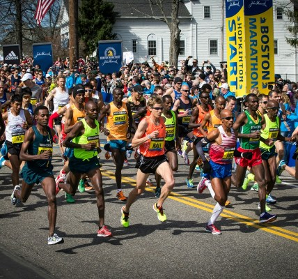 atletas elite maraton boston 2018