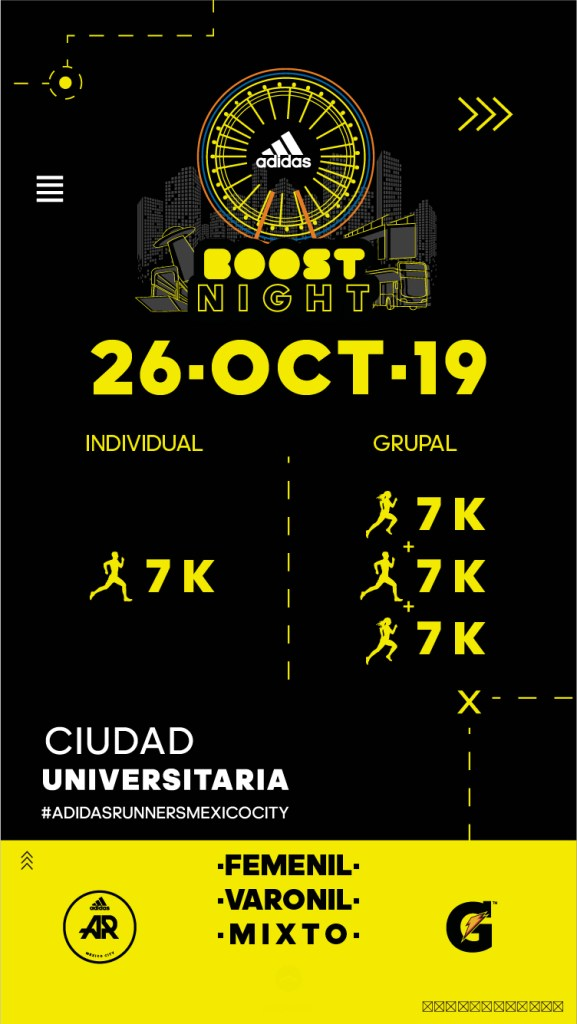 adidas Boost Night inscripciones