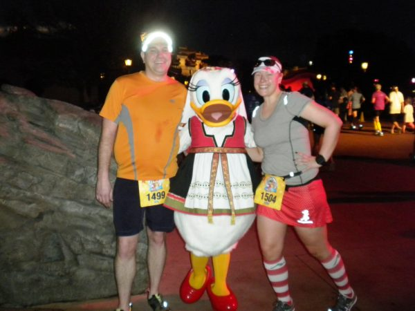 with Daisy Duck in Norway at the 2013 Disney 5K