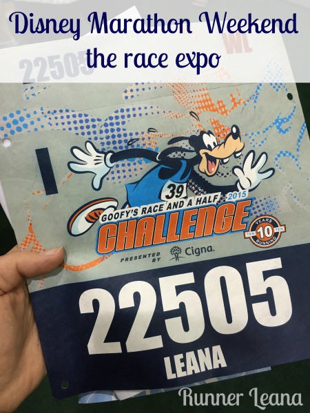 Disney Marathon Race Expo