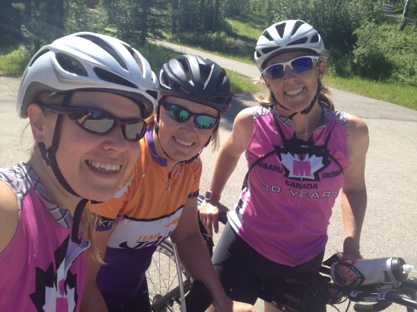 riding with friends in Bragg Creek