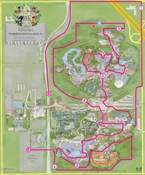 Tinker Bell 10K Map
