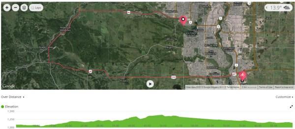 Calgary 70.3 Bike Course