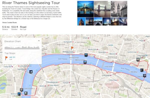 Screen Cap via Strava Local - London Running Routes