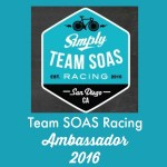 Team SOAS Racing Ambassador for 2016!
