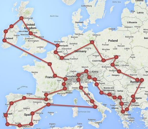 Guillaume Arthus traversera en tout 25 pays et 1000 km en 37 jours
