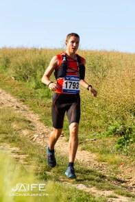 course à pied sans manchons de compression
