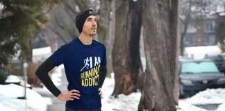 le retour d'un t-shirt running addict exclusif