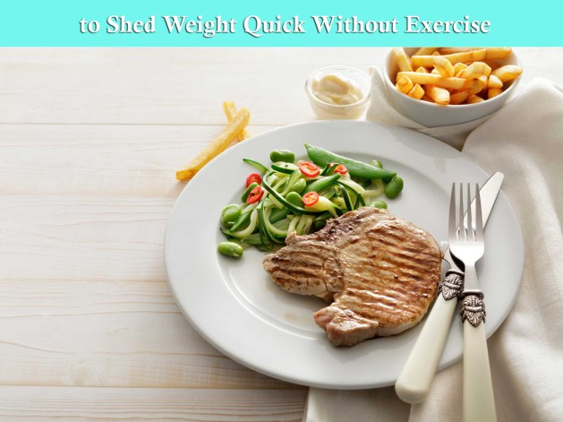 to Shed weight Quick without exercise