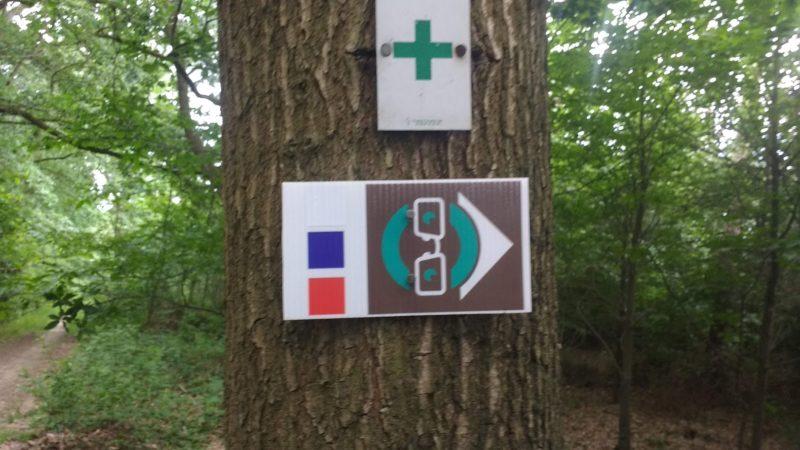 Parcours ble du parcours trail permanent d'Amay