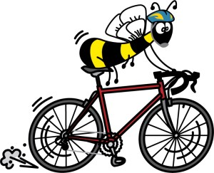Bee riding a bike