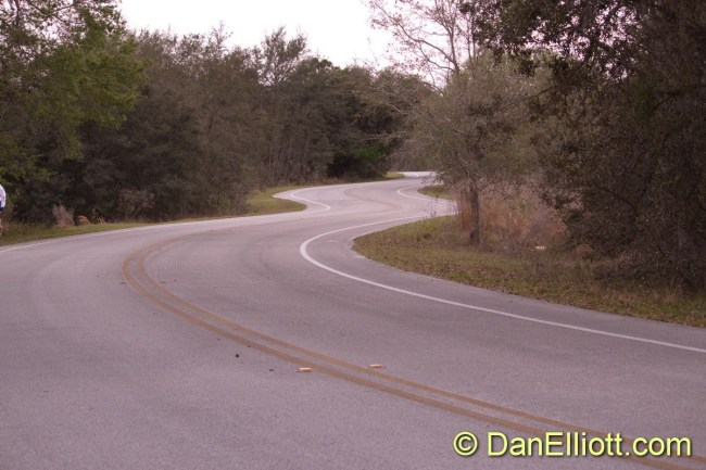 A portion of the bike course. Twisty :)
