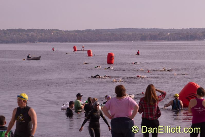 Overview of the swim - 700 yards total, out and back around the buoys.