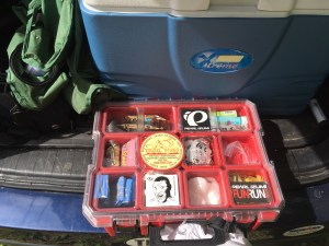 My caffeinated gels were in this awesome toolbox, turned fuel-holder.