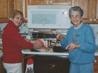 Frances, my mom-mom (on the right), with my mom. It seems clear my grandmother is leading this show.