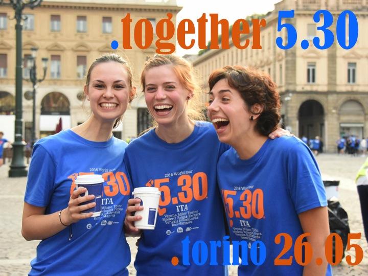 E' venerdì, Inizia bene la giornata: corri con me la Run5.30 di Torino