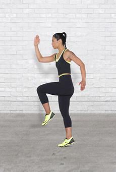 Entrenamiento rodilla al pecho de alta intensidad para corredores HIT