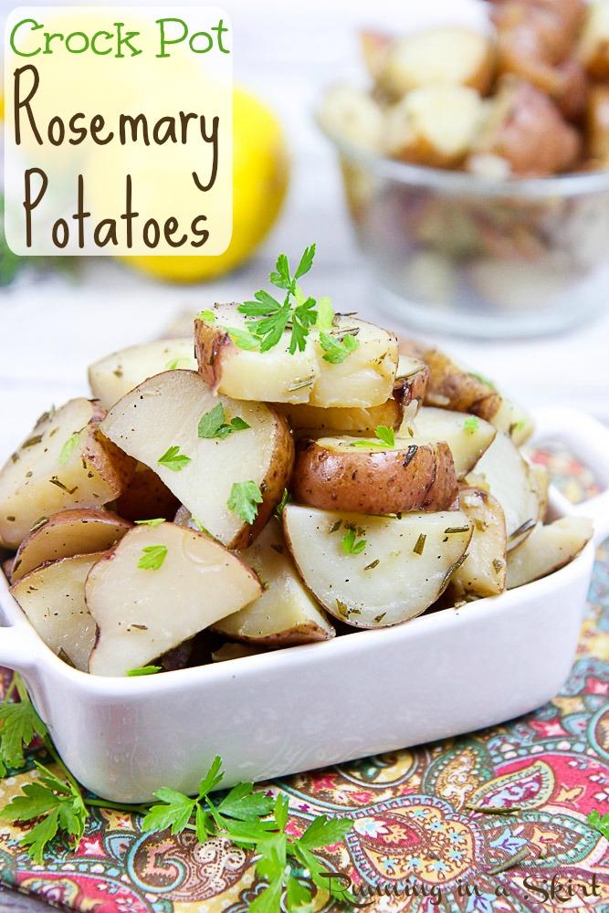 Crock Pot Rosemary Potatoes pinterest pin.