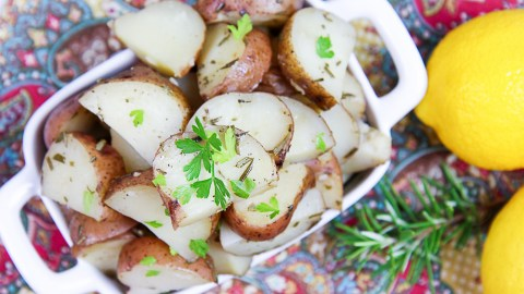 Crock Pot Rosemary Potatoes