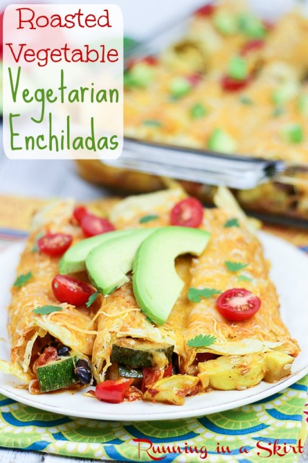 Vegetarian Roasted Vegetable Enchiladas