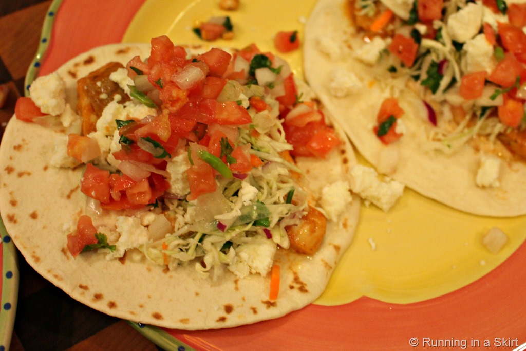 Chipotle Lime Fish Tacos with Cilantro Slaw | Running in a ...