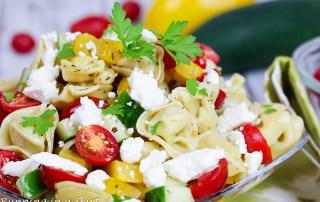Greek Tortellini Pasta Salad - 6 ingredients!