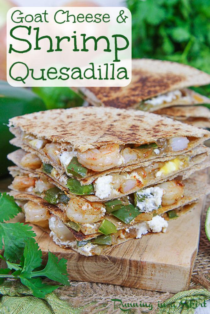 Shrimp Quesadilla recipe pinterest pin.