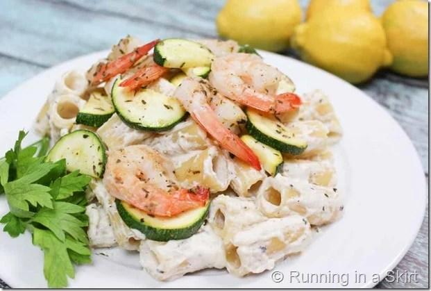 Lemon Ricotta Pasta with Shrimp-15