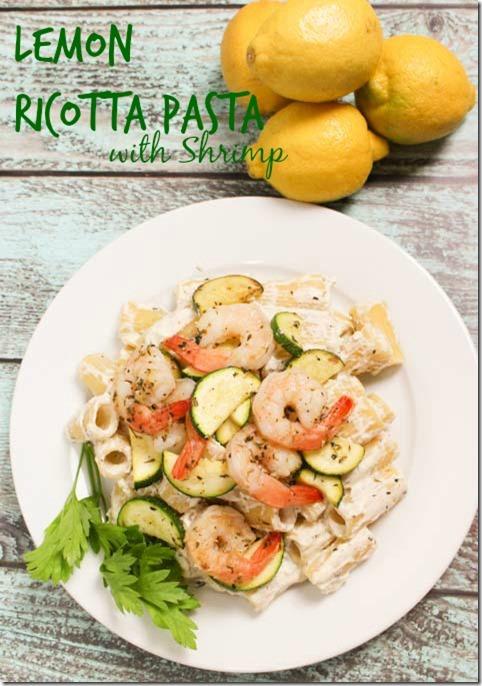 Lemon Ricotta Pasta with Shrimp-pin