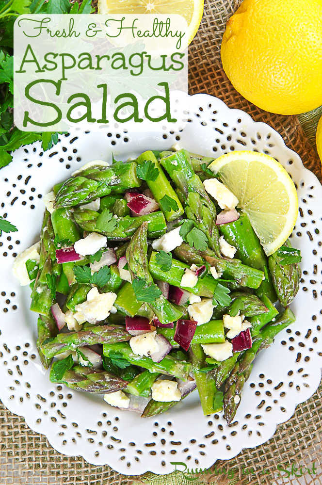 Fresh and Healthy Cold Asparagus Salad recipe pin