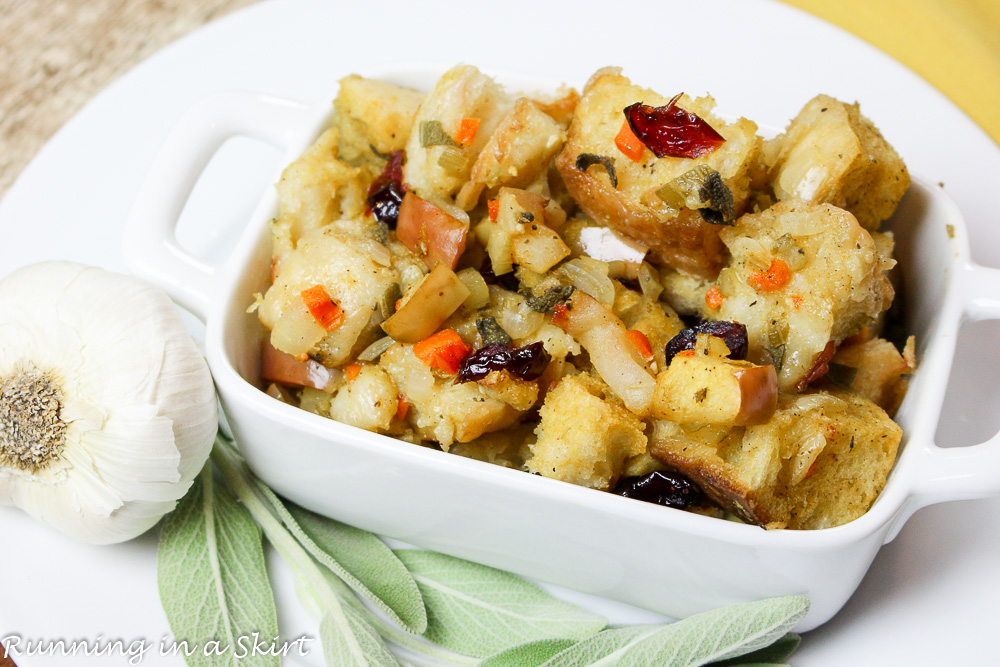The Best Vegetarian Stuffing recipe / Running in a Skirt