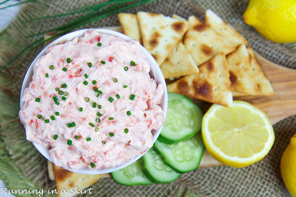 Finished product of Healthy Smoked Salmon Dip.