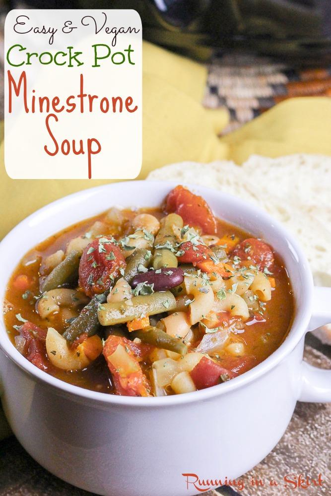 Easy Crock Pot Minestrone Soup recipe