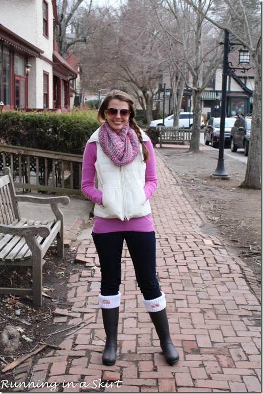 How to Style Hunter Rain Boots / Running in a Skirt